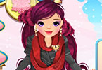 Play Winter Circle Scarf Dress Up Game