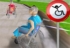 Play 3D Wheelchair Race Game