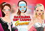 Play Dazzling Red Carpet Gowns Game