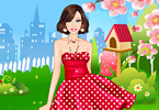 Play Barbie Dotted Dresses Dress Up Game