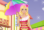 Play Barbie in the rain Game