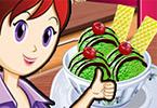 Sara Cooking Class Green Tea Ice Cream