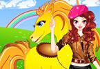 Cute Girl And Her Cute Horse