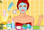 Play Pajama Party Facial Makeover Game