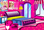 Play Barbie Fan Room Decoration Game
