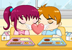 Play Cafetaria Kiss Game
