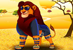 Play Lion Dress Up Game