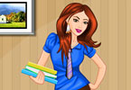 Play Cute Secretary Dress Up Game