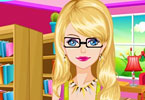 Play Cute Geeky Girl Makeover Game