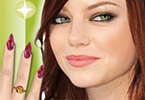 Play Emma Stone Nail Salon Game