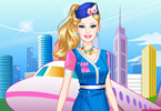 Play Barbie Flight Attendant Dress Up Game