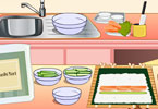 Play Mia Cooking Sushi Rolls Game