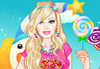Play Barbie in Candyland Dress Up Game