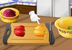 Sara Cooking Class Chicken Fajitas