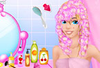 Play Fruity Cuties Hairstyling Game