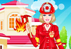 Play Barbie Firefighter Dress Up Game