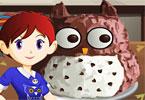 Saras Cooking Class Owl Cake