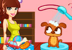 Play Puppy Beauty Spa Game