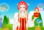 Play Barbie Russian Doll Dress Up Game