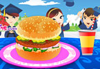 Play School Hamburger Deco Game