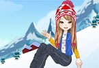 Play Snowtubing Girl Game