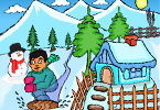 Play Coloring in the Snow Game