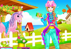 Play Barbie Pony Tale Dress Up Game