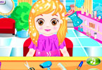 Baby In Hair Salon