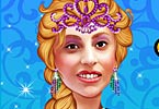 Lady Frozen Princess Makeover
