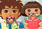 Girl and Diego At The Dentist