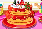 Girl Christmas Cake