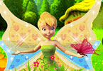 Tinkerbell In Garden
