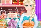 Pregnant Elsa Burger Cooking