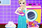 Elsa Washing Clothes For Newborn