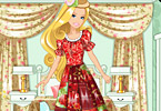 Barbies Patchwork Peasant Dress