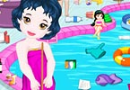 Baby Princess Swimming Pool Cleaning