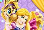 Rapunzel Messy Pony