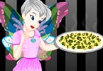 Tinkerbell Black And White Pizza