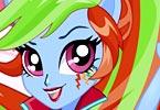 Rainbow Dash School Spirit Style