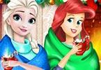 Disney Princess Playing Snowballs