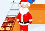 Santa Pancake Cooking
