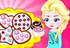 Baby Elsa Makes Cookies
