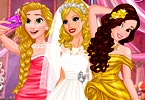 Barbie Wedding Selfie with Princesses