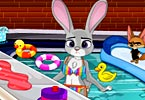Zootopia Pool Party Cleaning