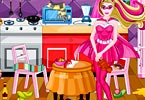 Super Barbie Kitchen Cleaning