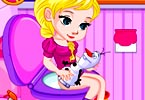 Baby Elsa Potty Train