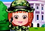Baby Hazel Defense Officer Dressup