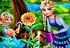 Elsa Mommy Gardening