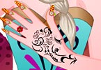 Elsa Selfie Nail Designs